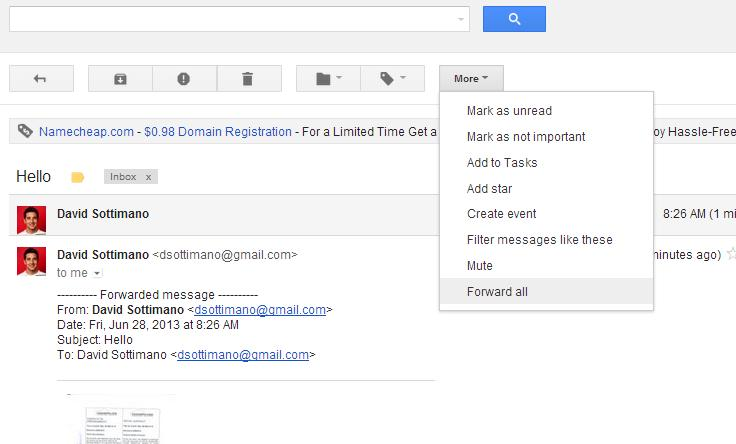 how to forward all gmail and download attachments