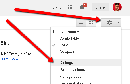 google drive settings gear icon box